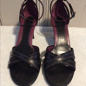 Cole Haan black and purple heels